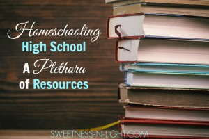 Homeschooling High School – A Plethora of Resources