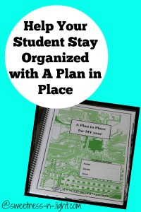 Student Planner: Organization With A Plan in Place