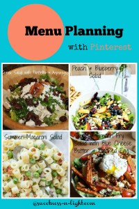 Summer Salads – Menu Planning with Pinterest