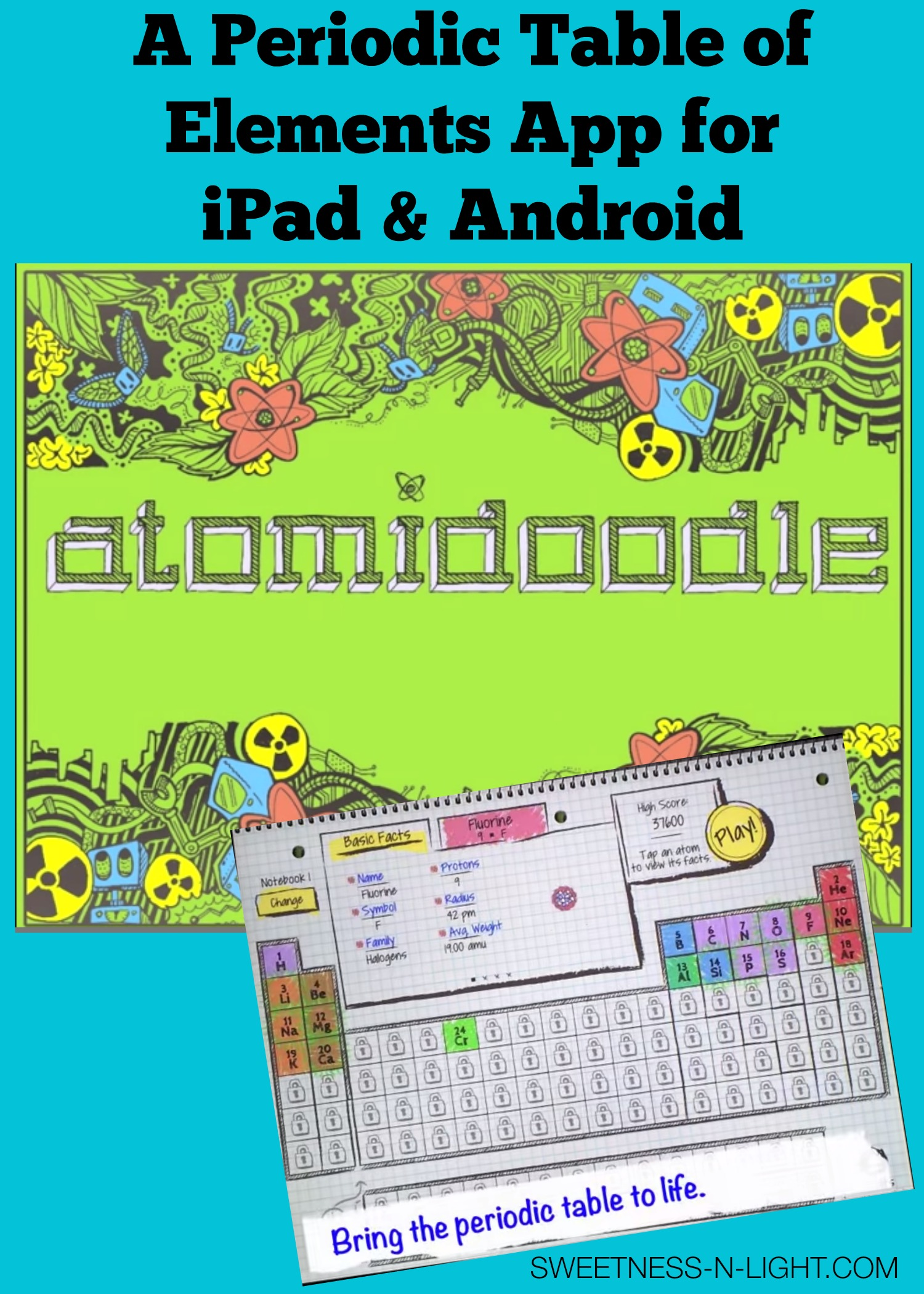 Atomidoodle periodic table of elements app sweetness n light atomidoodle periodic table of elements app urtaz Choice Image
