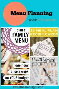 How weekly menu planning saves me.