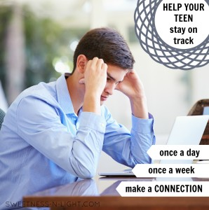 Helping your teen stay on track.