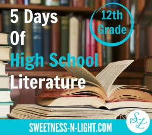 5 Days of High School Literature – 12th Grade