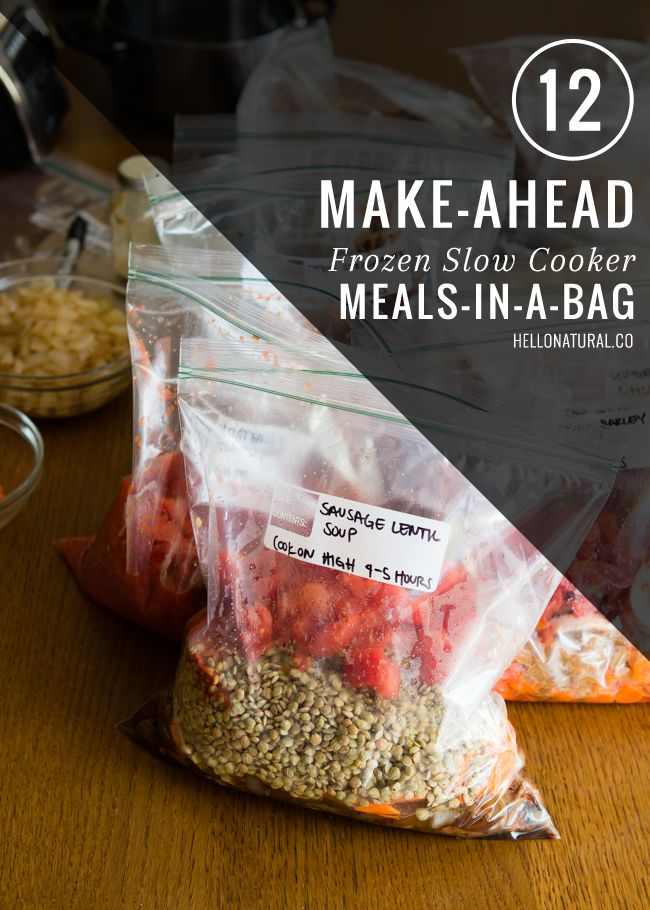 12 Make Ahead Meals