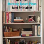 New Year Morning Basket Plans and Free Printable!