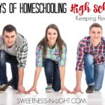 Homeschooling High School, Keeping Records